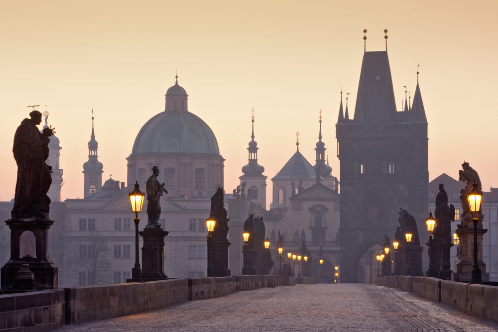 Prague at dawn. Photo by Frantisek Chmura/iStock/Getty Images