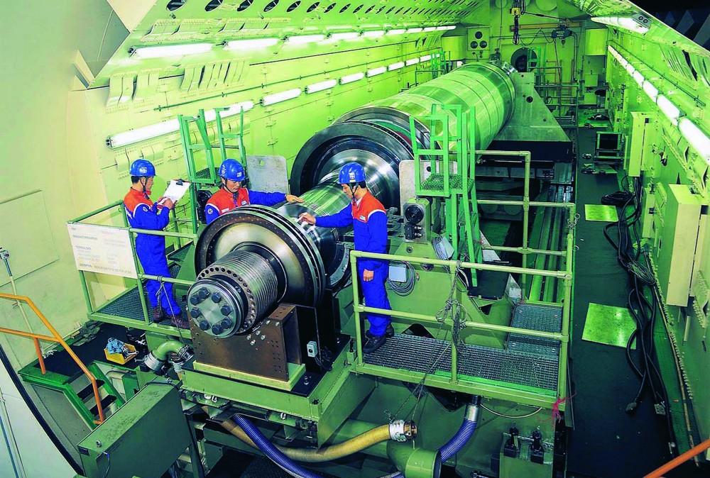A steam turbine made by DürrAG. Photo:Dürr