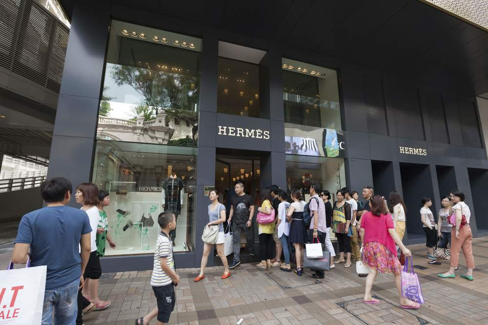 A Hermès store in Hong Kong. Image: iStock.