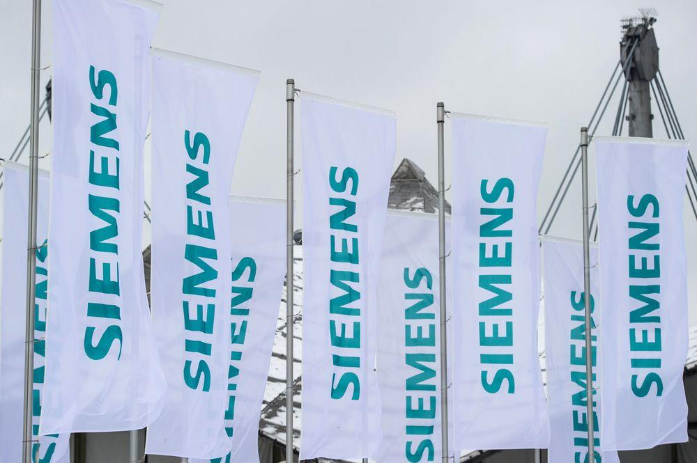 Flags at Siemens shareholder meeting. Image: Siemens.