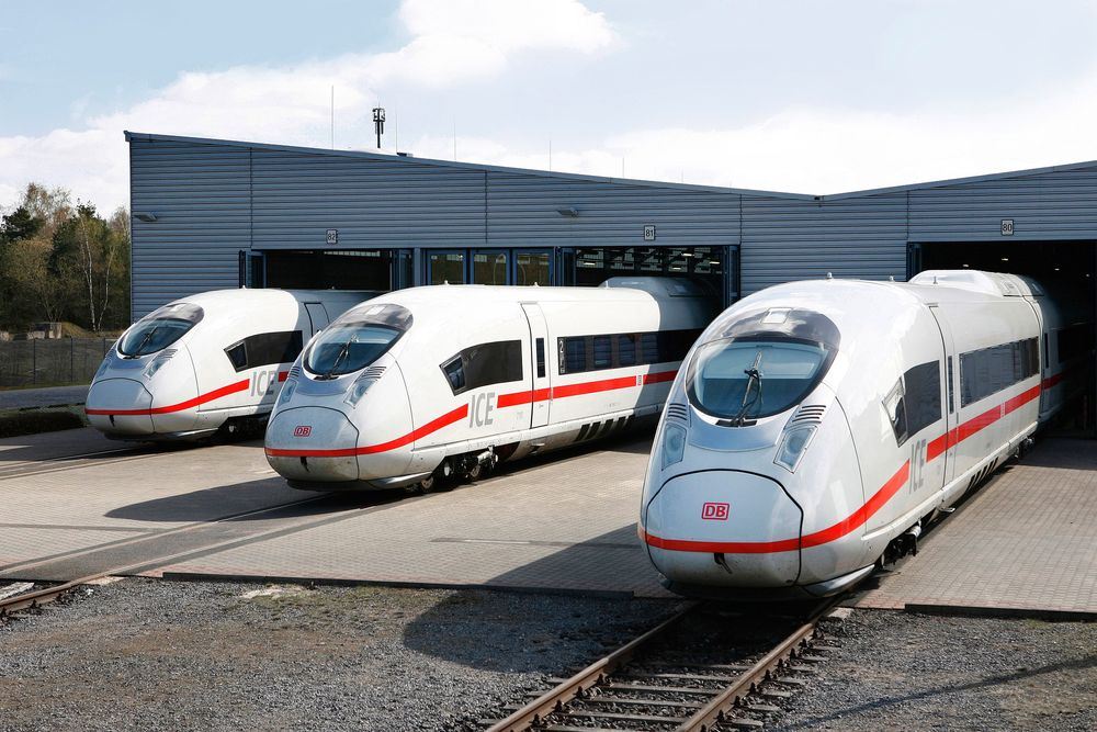 Trains built by German Mittelstand firm Siemens. Image: Siemens.