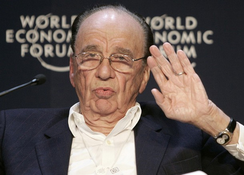 Rupert Murdoch: waving good-bye? Picture: World Economic Forum