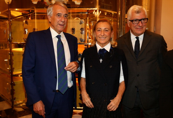 Husband and wife teams: Miuccia Prada and her husband Patrizio Bertelli on the right, by Vittorio Zunino Celotto/Getty Images Entertainment / Getty Images