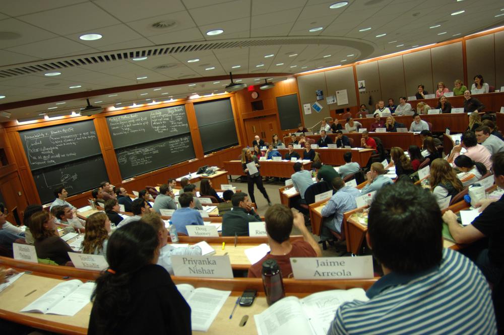 A class at Harvard Business School