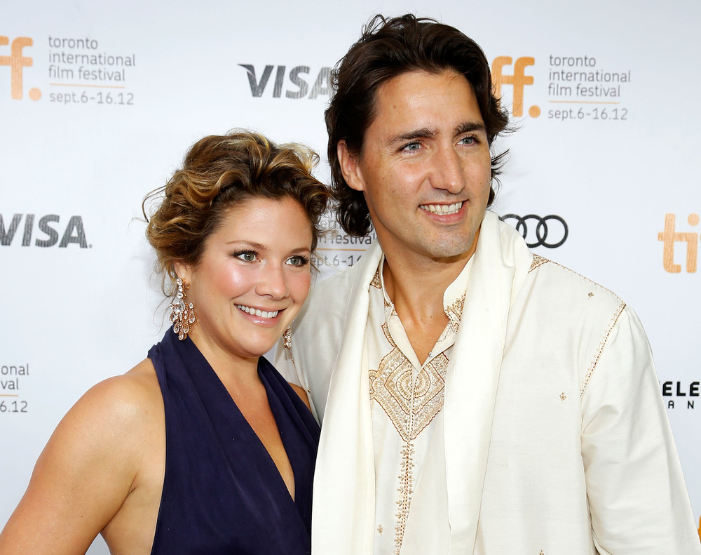 Justin Trudeau, the newly elected prime minister of Canada, with his wife. Photo by Jemal Countess/Getty Images Entertainment / Getty Images