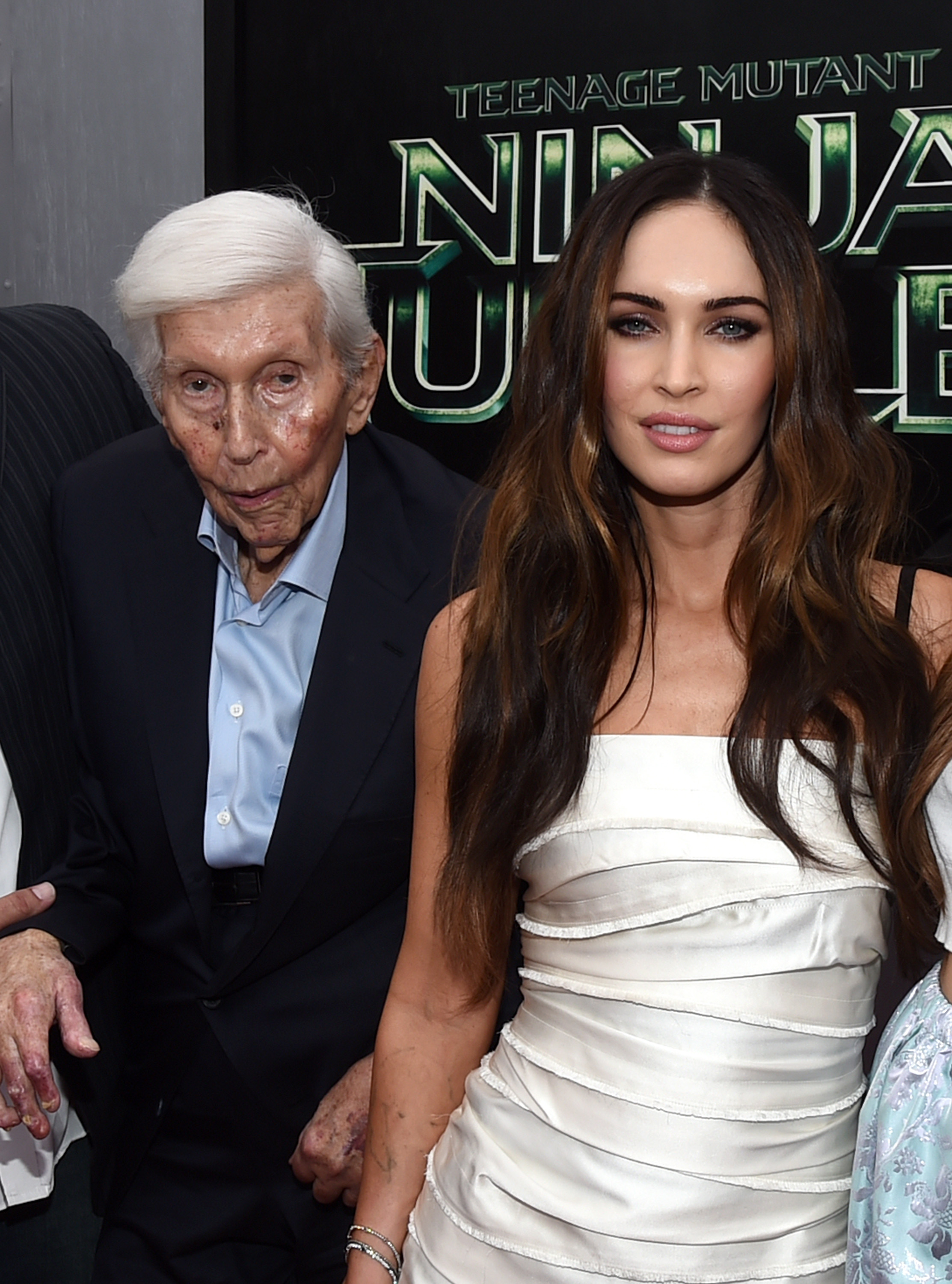 Sumner Redstone, left, is still enjoying himself. Photo by Michael Buckner/WireImage / Getty Images