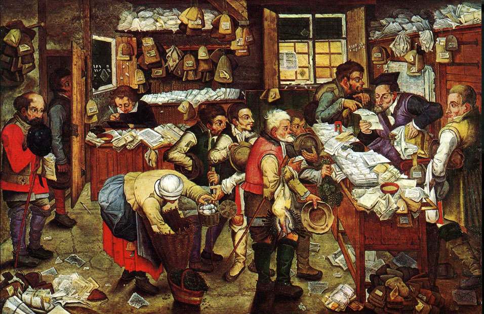 The Tax Collector  by Pieter Brueghel the Younger