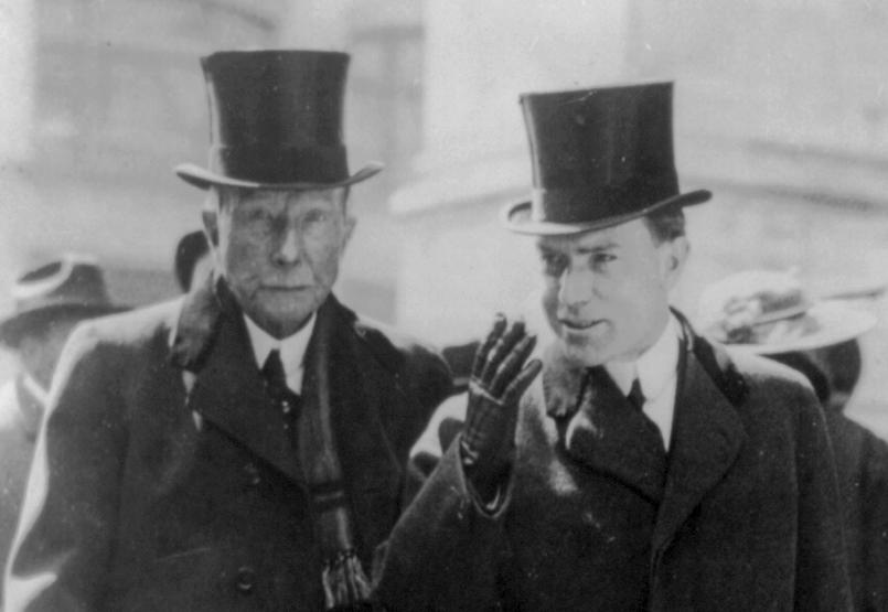 John D. Rockefeller, left, the world's first confirmed dollar billionaire