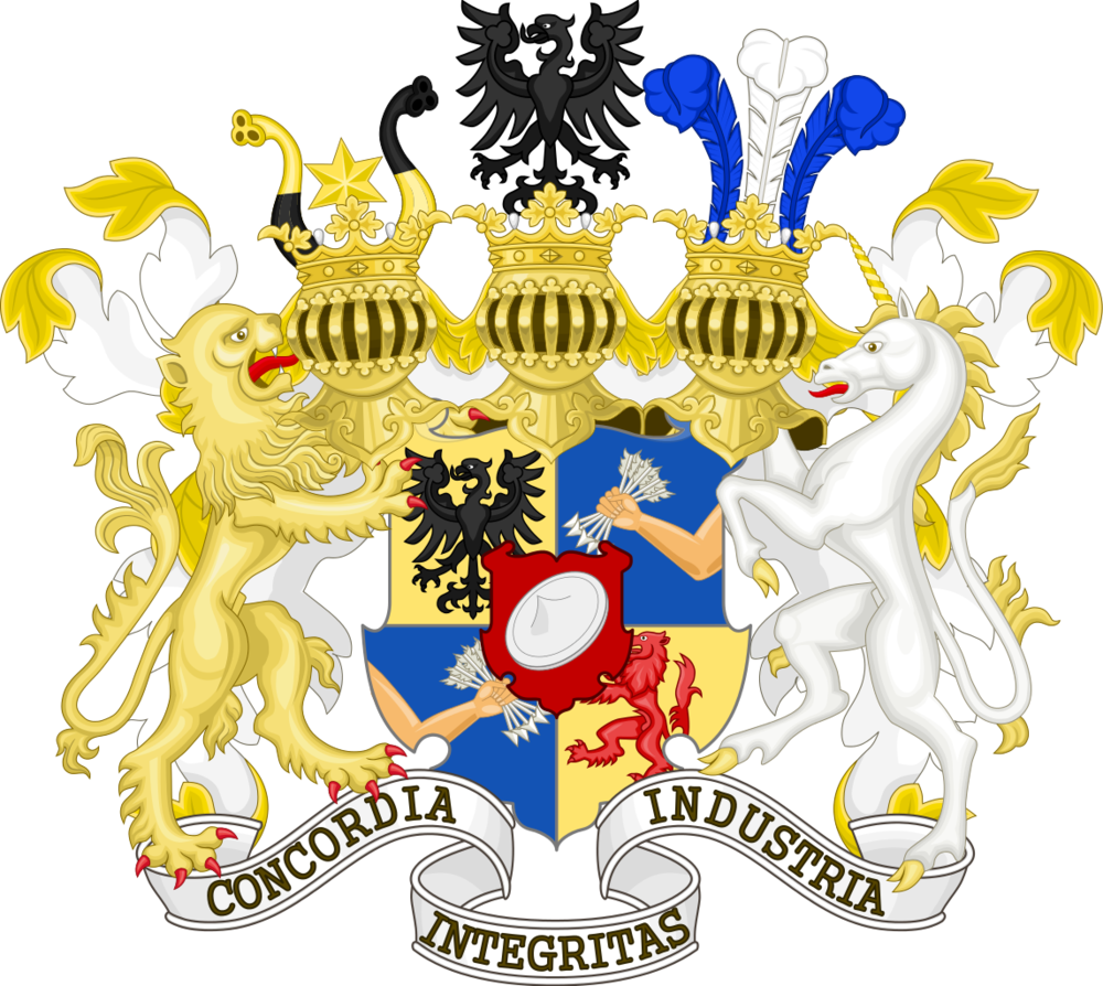 The Rothschild family's coat of arms