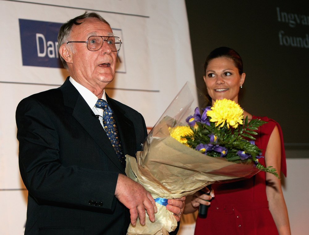 Is Kamprad wearing a secondhand suit? Photo by Chris Jackson/Getty Images Entertainment / Getty Images