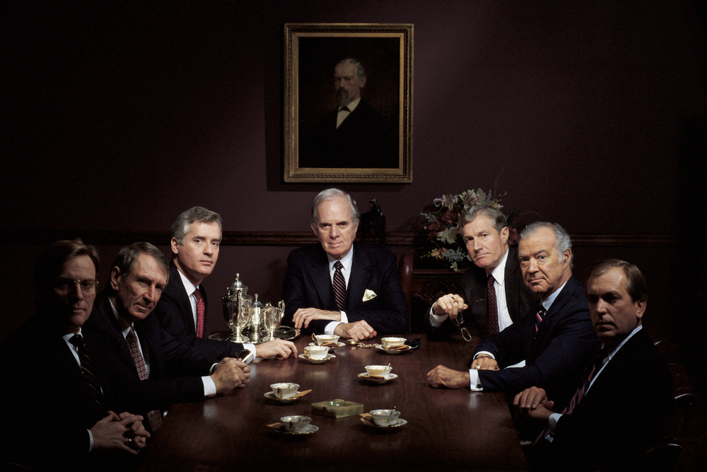 This isn't a caricature - most family business boards are exactly like this    Photo by Comstock/Stockbyte / Getty Images