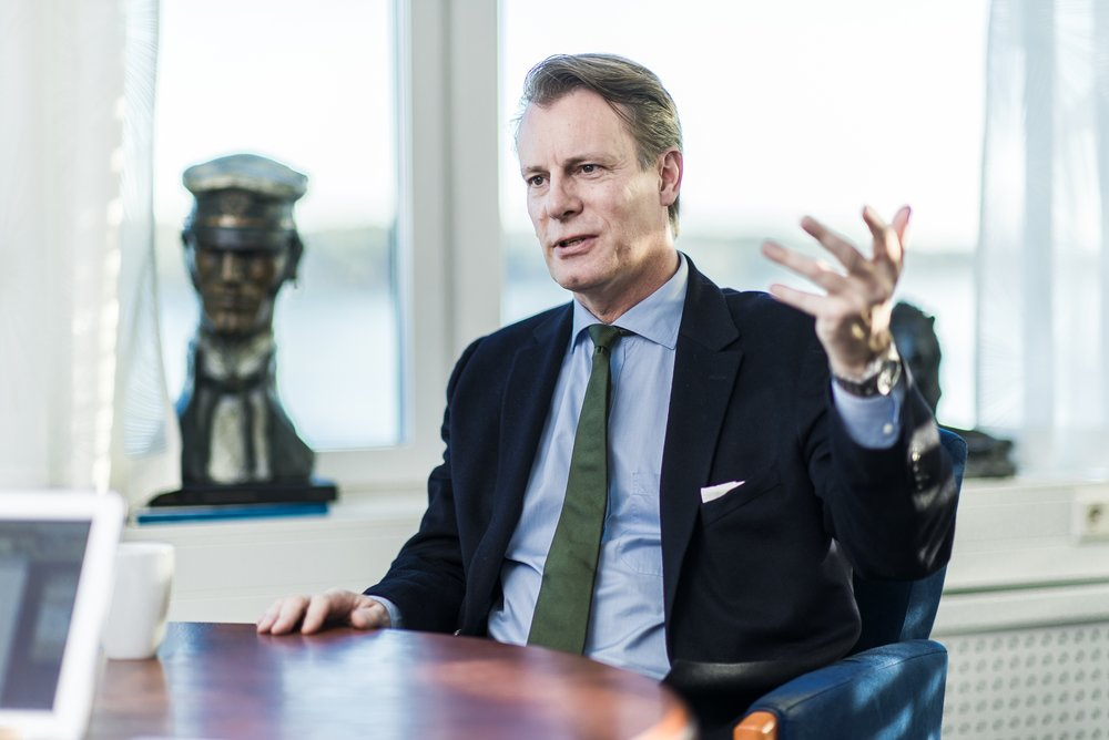 Johan Andresen - presents a strong argument for family offices to be more transparent.   Photo: Olav Heggø / Ferd