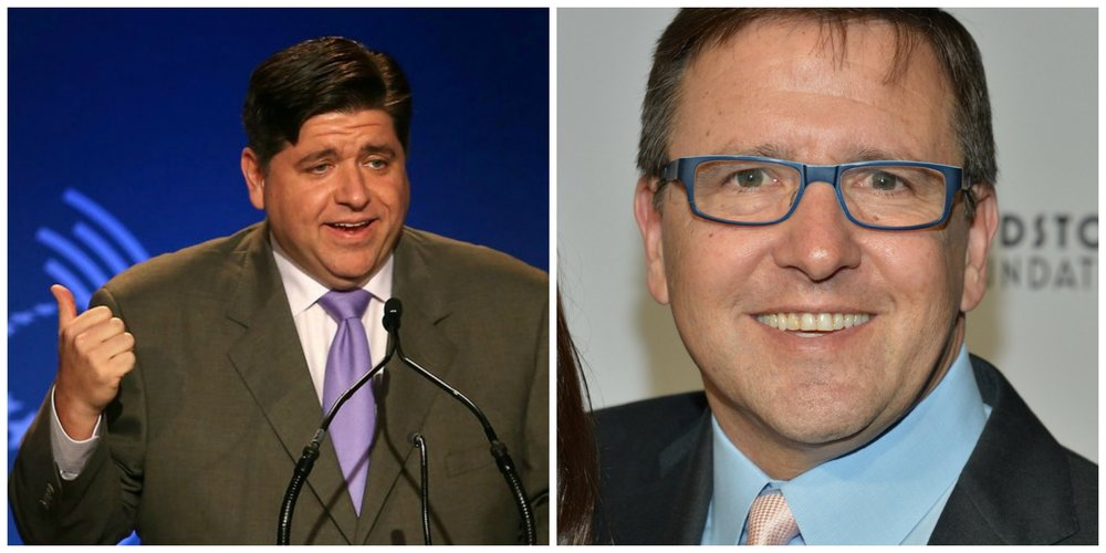 Pritzker Power - Left, JB Pritzker   Photo: Scott Olson/Getty Images  Right: Tony Pritzker  Photo: Alberto Rodriguez/Getty Images