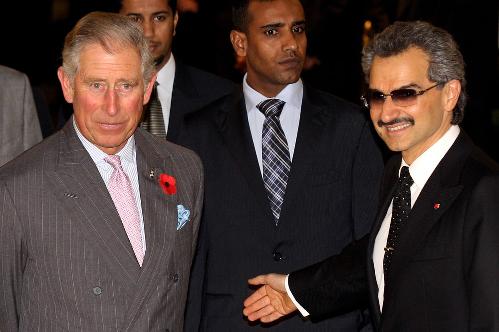 Prince Alwaleed Bin Talal, right, currently under arrest in Saudi Arabia Photo by Oli Scarff/Getty Images News / Getty Images