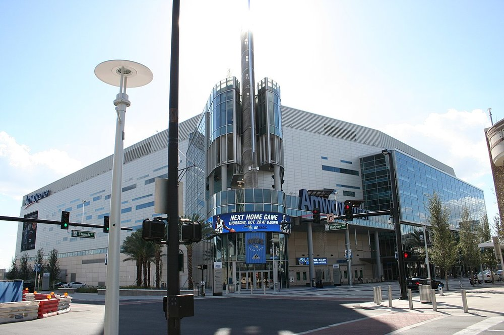 Amway Center, the Magic's arena since 2010                             Photo: Wikimedia