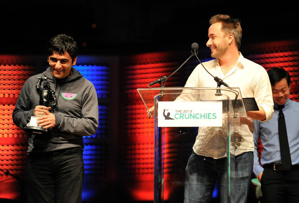 Dropbox founders Arash Ferdowsi and Drew Houston  (Photo by Steve Jennings/WireImage / Getty Images)