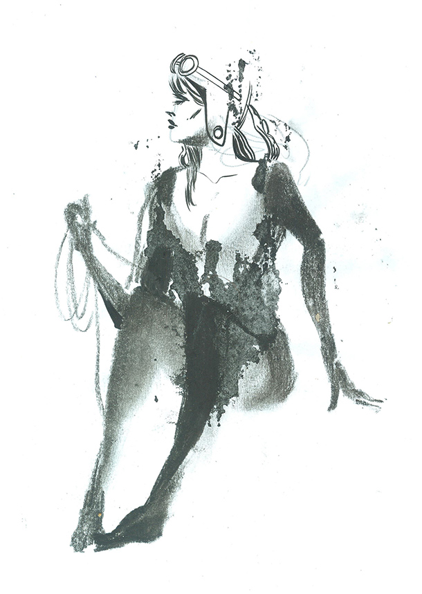 Ink & charcoal, 5 min pose