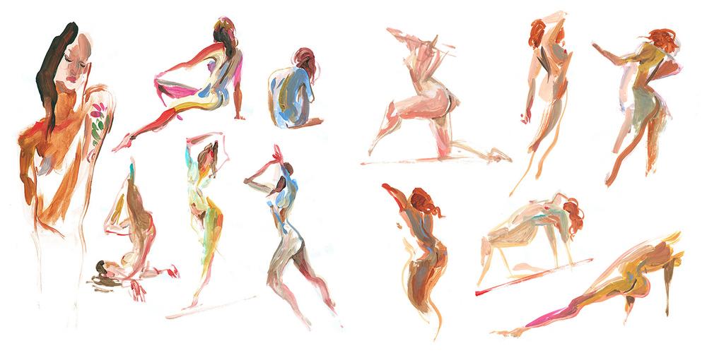 Acrylic, 2-3 min poses