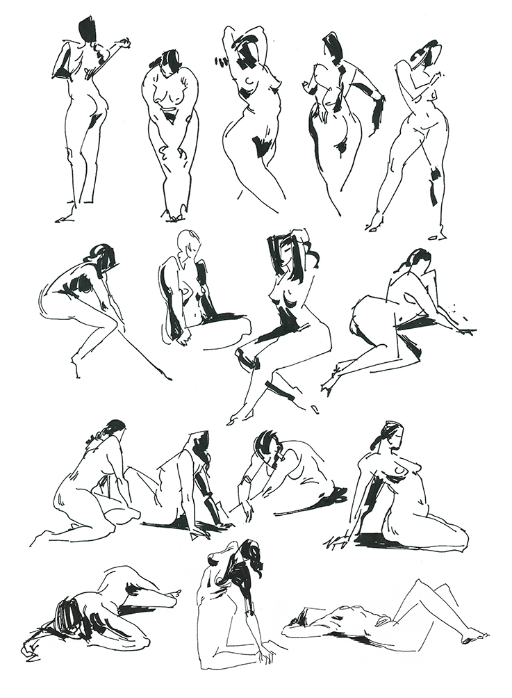 Parellel pen, 1 min poses