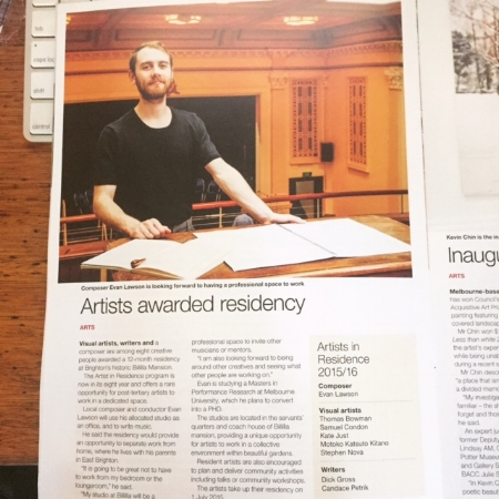 Article about being a Baysdie Artist in Residence 2015 - 16