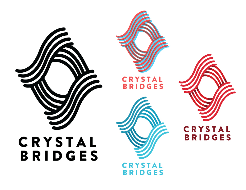 Playing with some concepting and logo for the Crystal Bridges museum. Recently got a chance to visit the beautiful state of Arkansas to visit Saatchi & Saatchi X