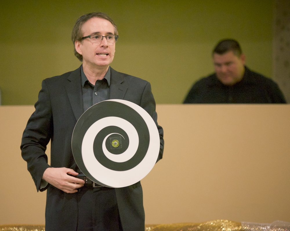 Corporate entertainer, Lou Serrano - hypnotizing the audience