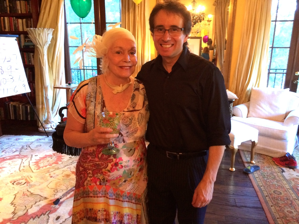 With Pat Montandon after my show at her home in Beverly Hills.