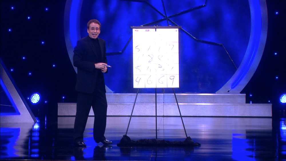 Lou Serrano performing on Masters of Illusion