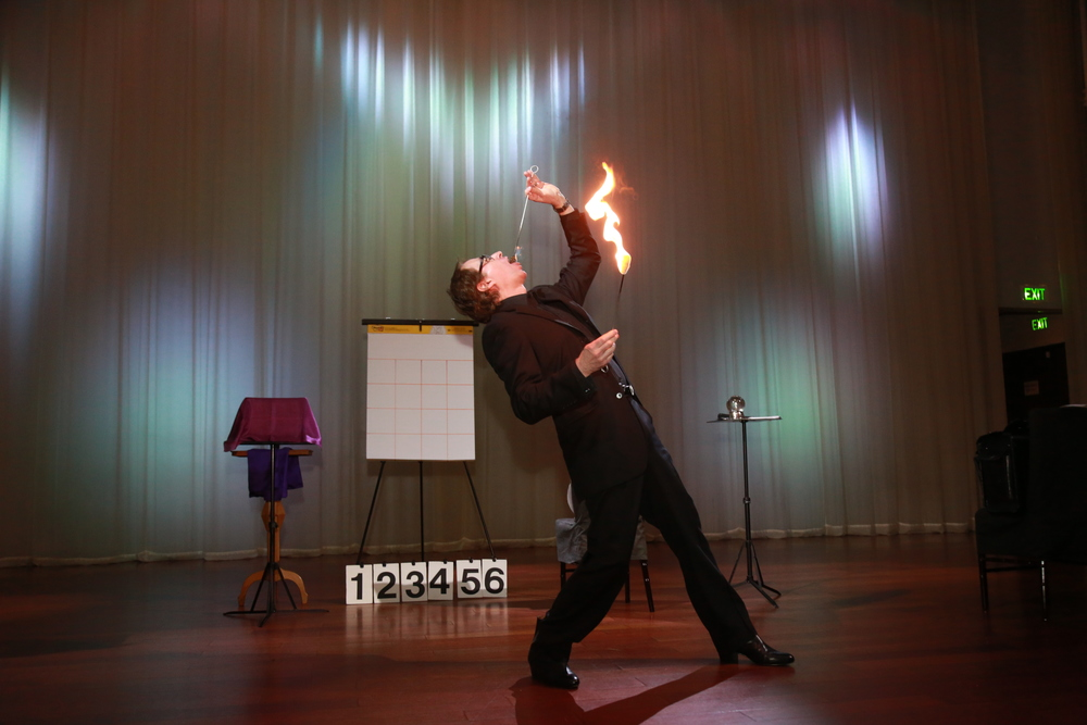 Lou Serrano fire eating