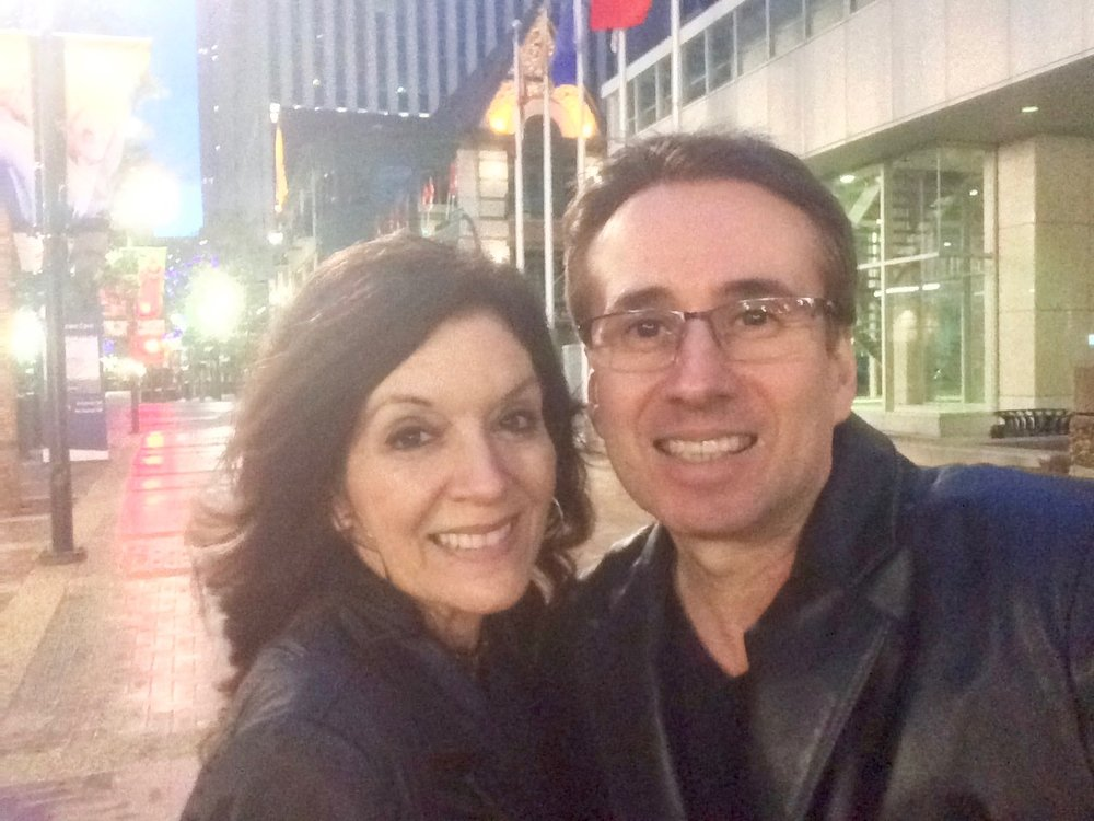 Lou and Dee in Downtown Calgary