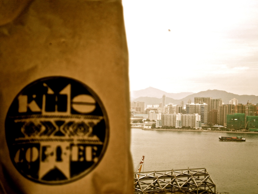 Looking out at Victoria Harbor
