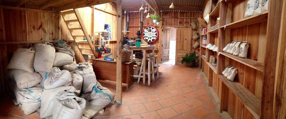 Nhà kho, xưởng rang và showroom của K'Ho Coffe