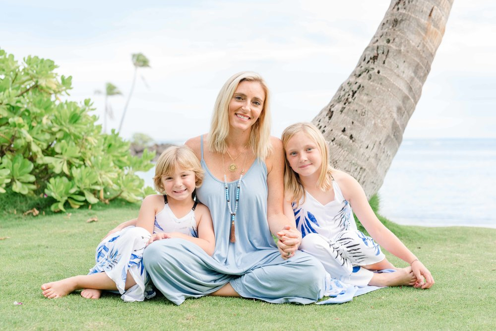 Oahu Family Photographer | Mom and Daughters Beach Portrait