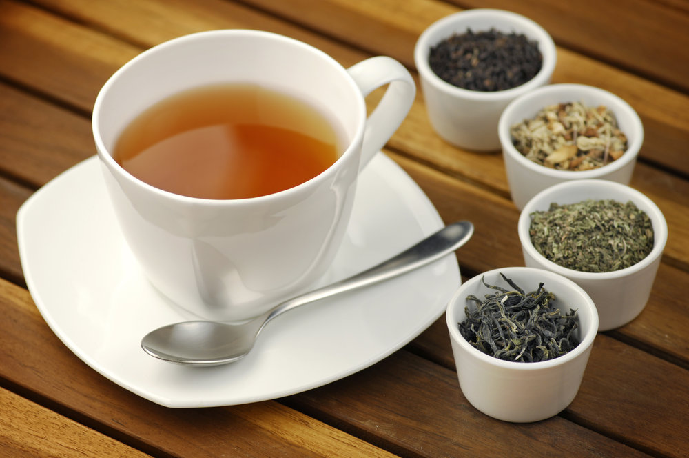 We sell Artisanal Teas: Black, Green, Wulong and White. We bring in new teas every month.