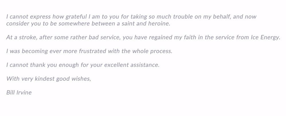 Customer Service Report-Bill Irvine