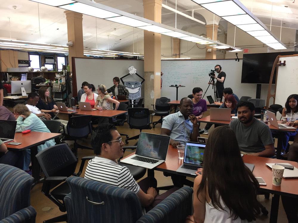 A Satellite Stories focus groups at Columbia University