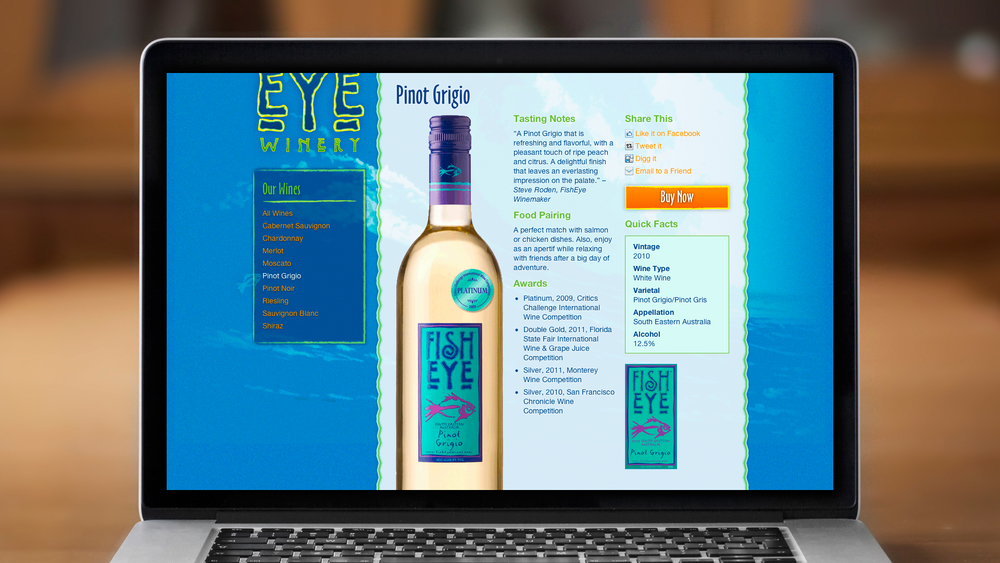 Web – Wines – Product Page