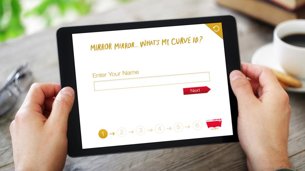 iPad Web App – Step 1 (Name)