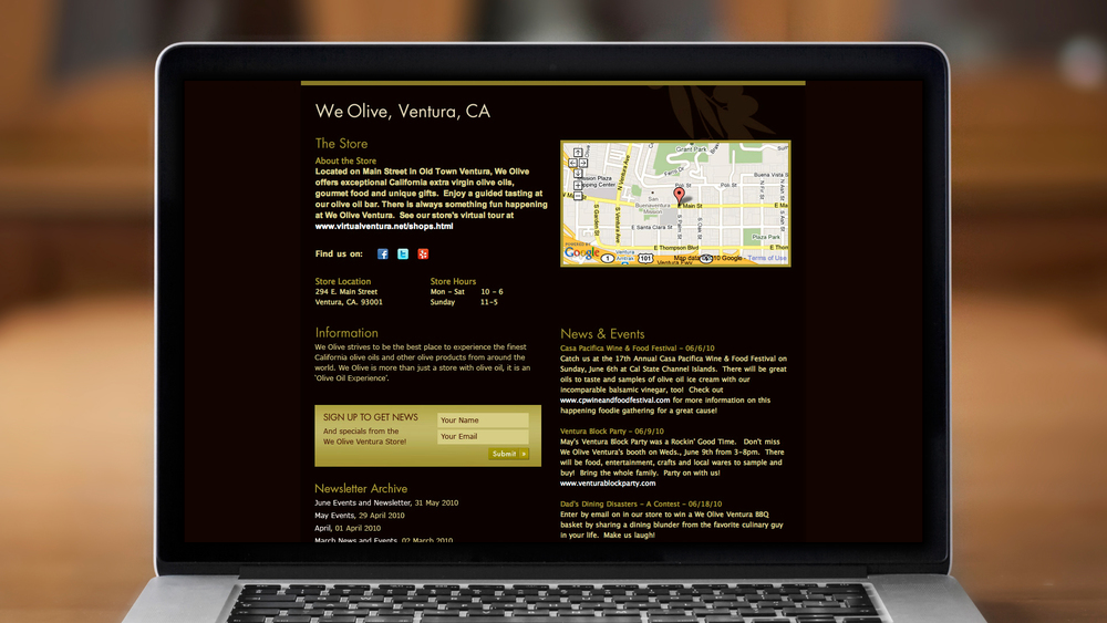 Web – Retail Store Page
