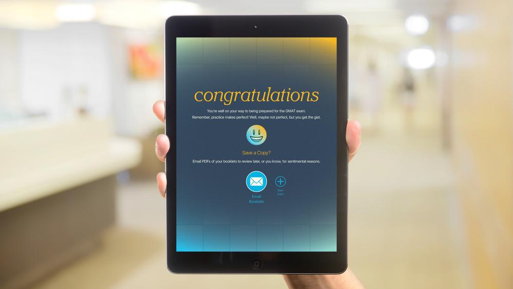 iOS App – Congratulations