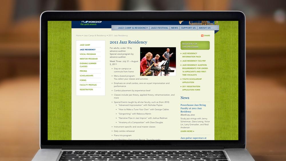 Web – Jazz Camp & Residency – Jazz Residency