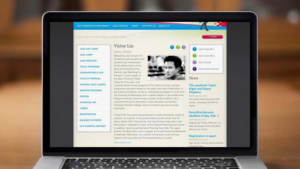 Web – Workshop – Faculty Profiles – Bio Page