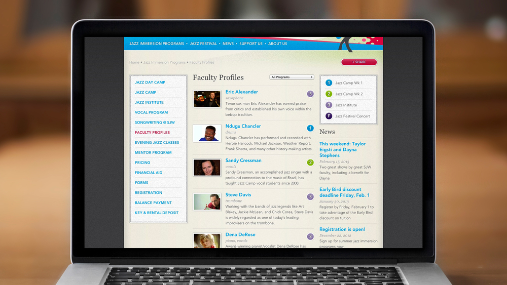 Web – Workshop – Faculty Profiles