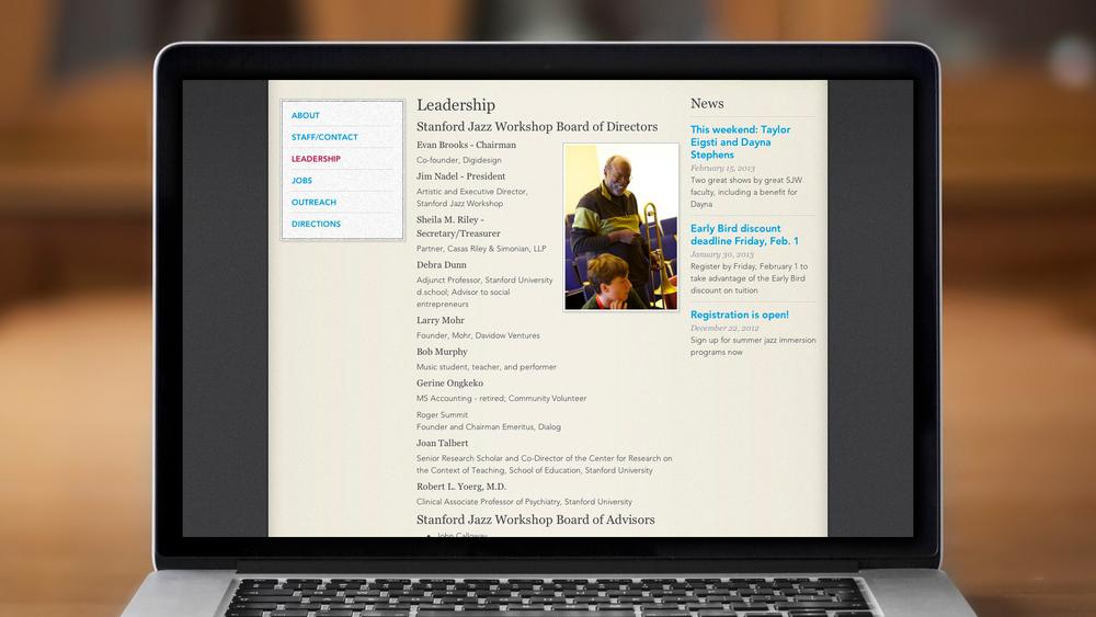 Web – Workshop – About – Leadership