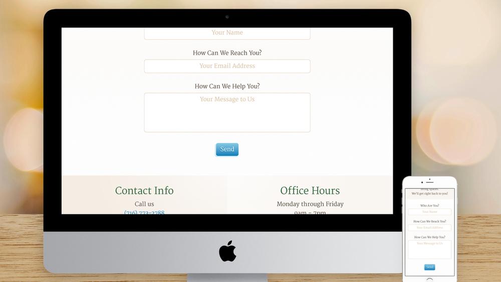 Responsive Website – Contact