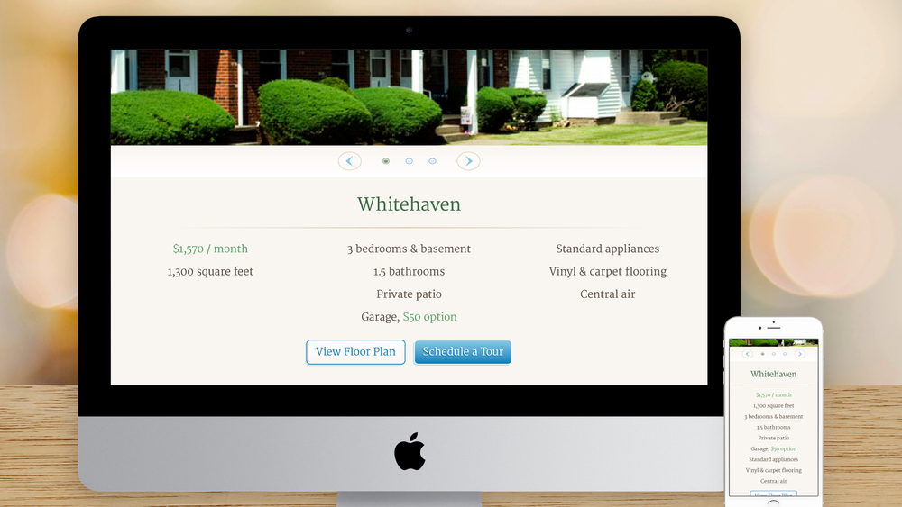 Responsive Website – Housing (Townhouses)