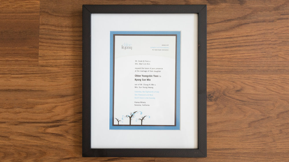 Print – Framed Invite