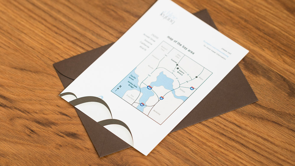 Print – Invitation Packet – Map of the Bay Area