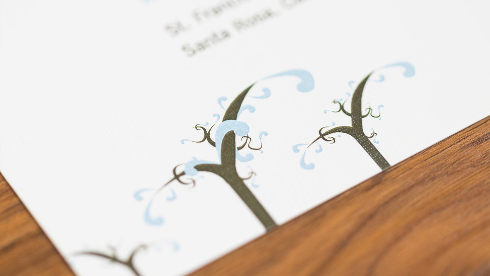 Print – Invitation Packet – Invite (Vines Close-Up)