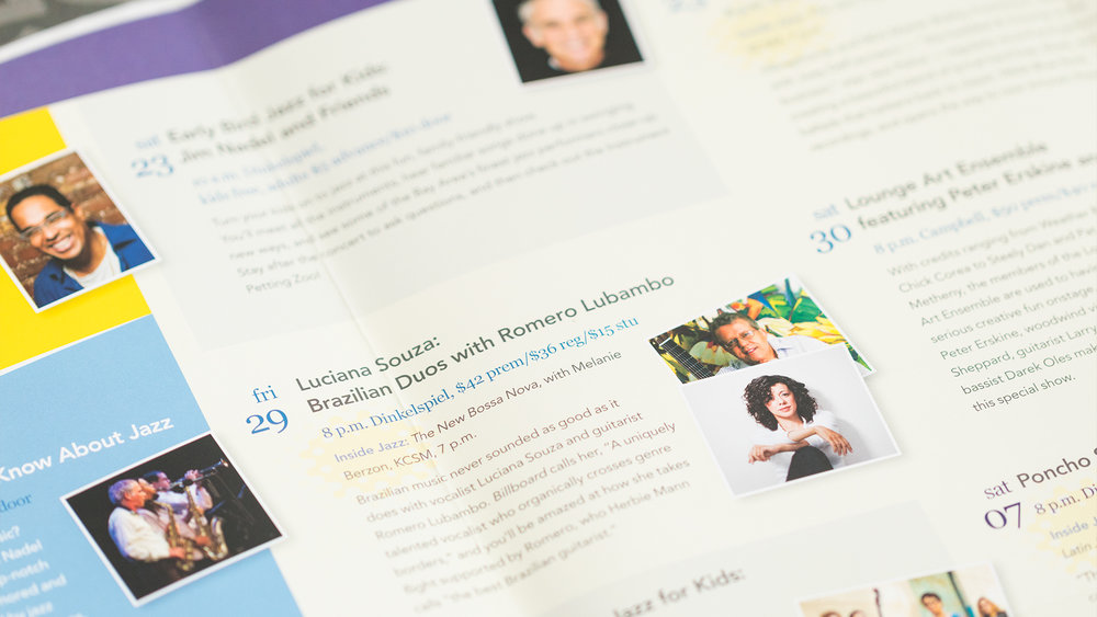 Print – Festival Mailer – Poster Side (Luciana Souza Close-Up)